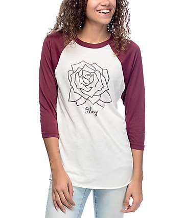 Obey Mira Rosa Fog & Port Royal Baseball T-Shirt