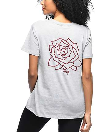 Obey Mira Rosa Grey Classic T-Shirt