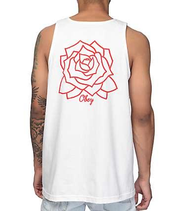 Obey Mira Rose camiseta blanca sin mangas