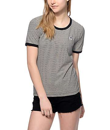 Obey Mitchell Black Ringer T-Shirt