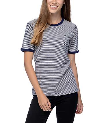 Obey Mitchell Navy Ringer T-Shirt