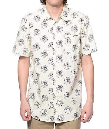 Obey Mulholland Cream Button Up Shirt