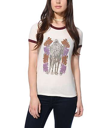 Obey Mystic Mountain Ringer T-Shirt