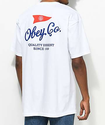 Obey Nautical White T-Shirt