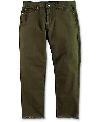 Obey New Threat Twill Cut Army Green Pants