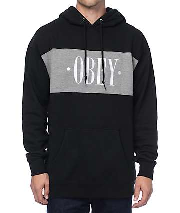 Obey New Times Black & Grey Hoodie