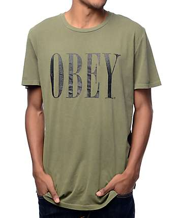 Obey New Times Dark Olive T-Shirt