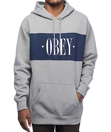 Obey New Times Navy & Grey Hoodie