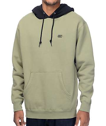 Obey New Times Olive & Black Hoodie