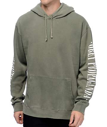 Obey New Times Propaganda Dusty Light Army Green Hoodie