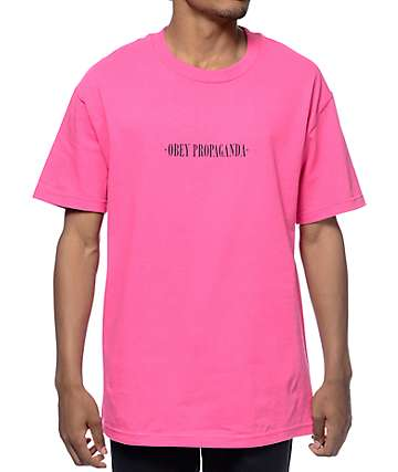 Obey New Times Propaganda Hot Pink T-Shirt