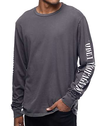 Obey New Times Property camiseta negra de manga larga