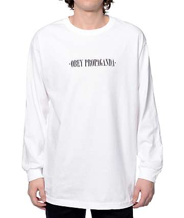 Obey New Times White Long Sleeve T-Shirt