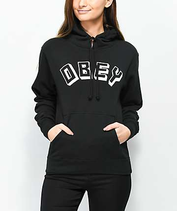 Obey New World Black Hoodie