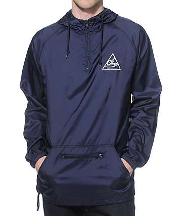 Obey Next Round Navy Anorak Jacket