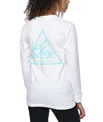 Obey Next Round True White Long Sleeve T-Shirt