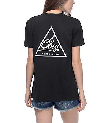 Obey Next Round camiseta negra