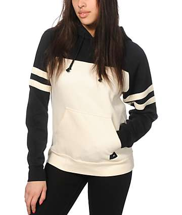 Obey No Name Black & Cream Colorblock Hoodie