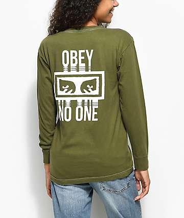 Obey No One Olive Long Sleeve T-Shirt