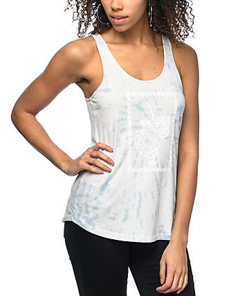 Obey Nobodys Flower Liberty Tie Dye Tank Top