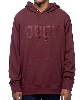 Obey North Point Burgundy Pullover Hoodie