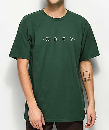 Obey Novel Forest Green T-Shirt