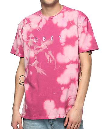 Obey Novel Magenta Bleach T-Shirt