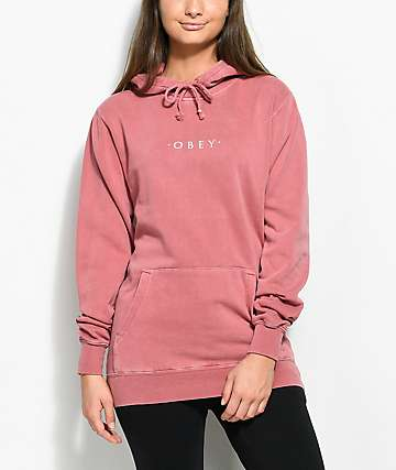 Obey Novel Premium Dusty Rose Hoodie