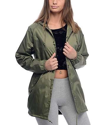 Obey O.B.E.Y. Army chaqueta entrenador con capucha en verde