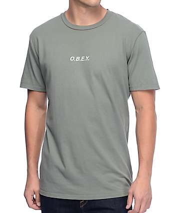 Obey O.B.E.Y. Dusty Light Army T-Shirt