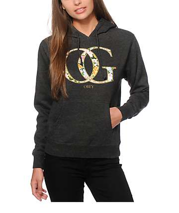 Obey OG Spring Charcoal Pullover Hoodie