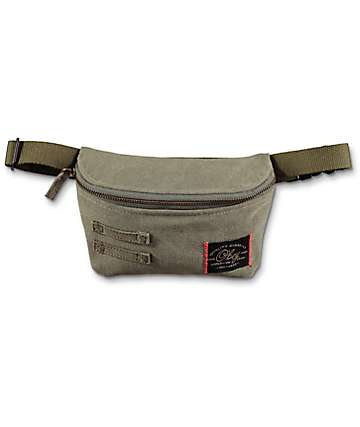 Obey Off Duty Olive Fanny Pack