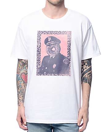 Obey Officer Sprinkles White T-Shirt