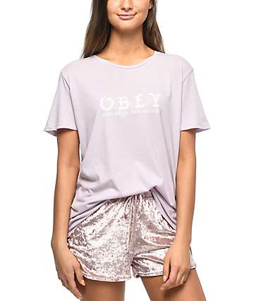 Obey Old World Orchid Drifter T-Shirt