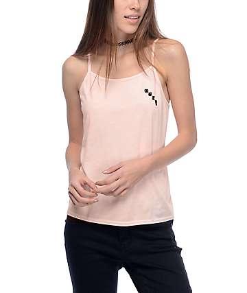 Obey Olde Hanna camiseta sin mangas en color melocotón
