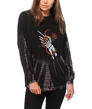 Obey Original Sin Tie Dye Long Sleeve Shirt