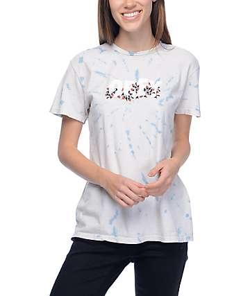 Obey Overgrown camiseta en efecto tie dye en azul