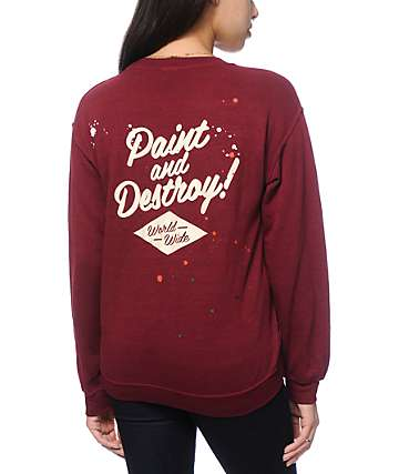 Obey Paint & Destroy Crew Neck Sweatshirt