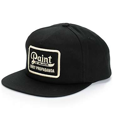 Obey Paint It Black Snapback Hat