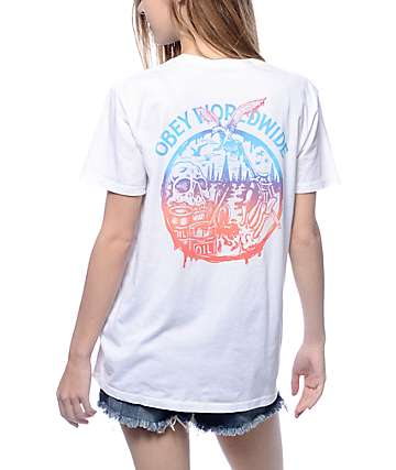 Obey Paint Spill Classic White T-Shirt