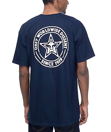 Obey Paste Star Navy T-Shirt