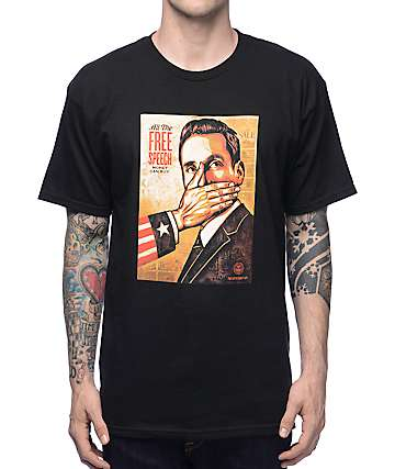 Obey Pay Up Or Shut Up Black T-shirt