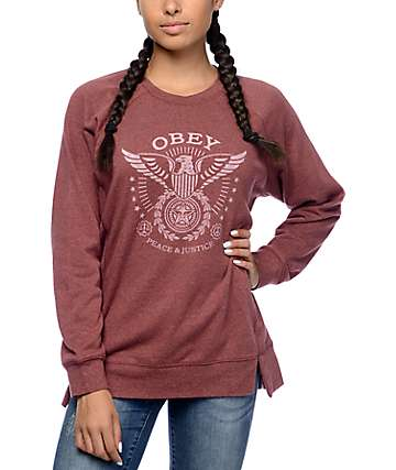 Obey Peace & Justice Berry Crew Neck Sweatshirt