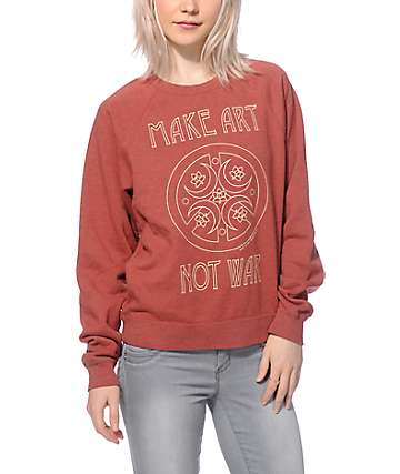 Obey Peace Make Art Crew Neck Sweatshirt