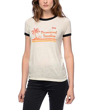 Obey Permanent Vacation Ringer T-Shirt