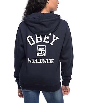 Obey Phenomenolgy Dept Navy Hoodie