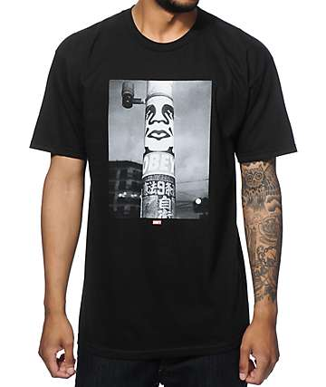 Obey Poster Pole Photo T-Shirt