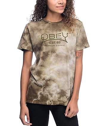 Obey Premium Dissent Olive Tie Dye T-Shirt