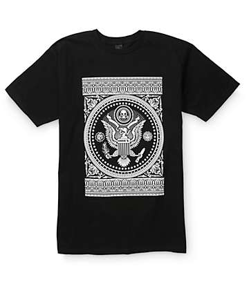 Obey Presidential Seal Black T-Shirt