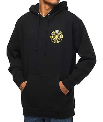 Obey Propaganda Company Black & Gold Pullover Hoodie